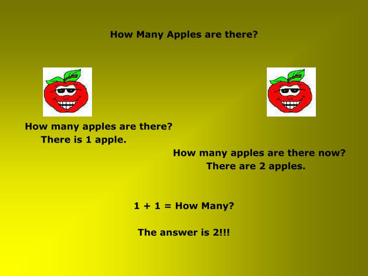 How many apples are there