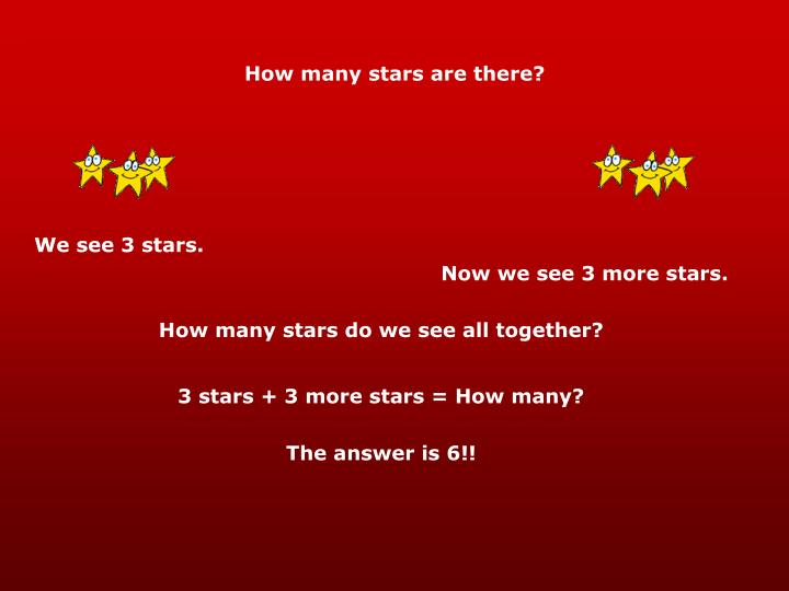 How many stars are there?