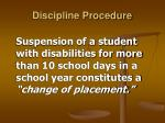 discipline procedure12