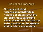 discipline procedure14