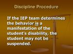 discipline procedure22