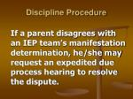discipline procedure27
