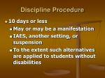 discipline procedure31