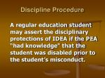 discipline procedure33