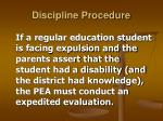 discipline procedure34