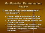 manifestation determination review23