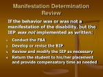 manifestation determination review24
