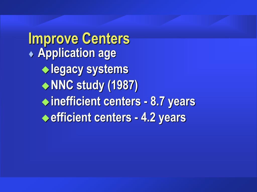 Improve Centers