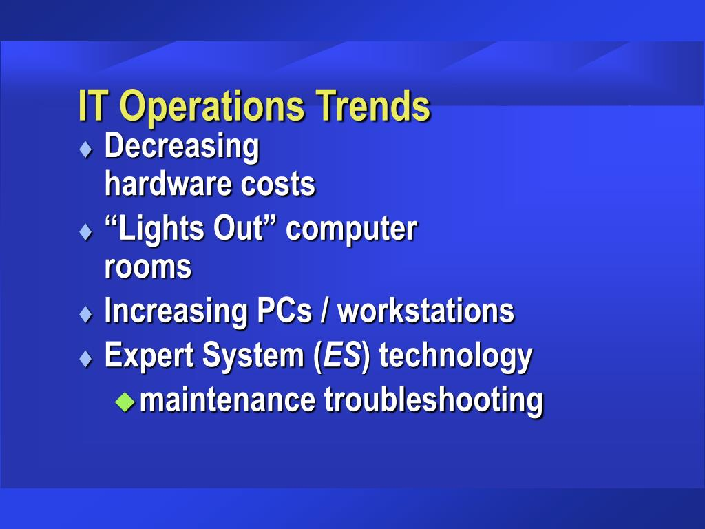 IT Operations Trends
