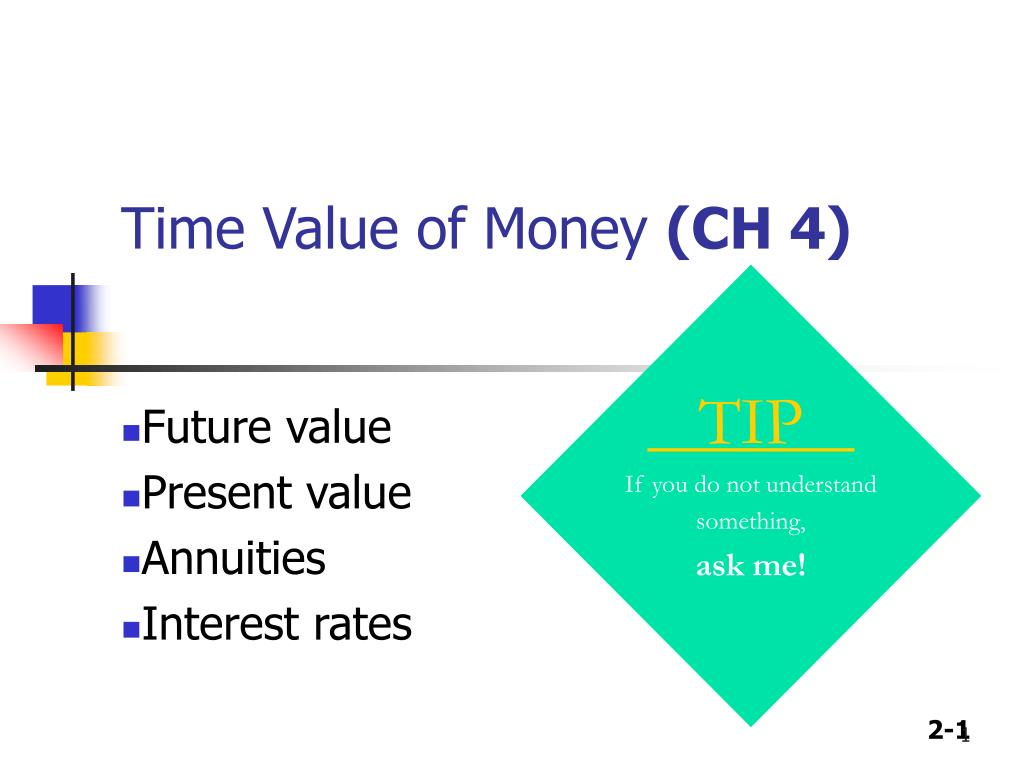 time value of money ch 4 l.