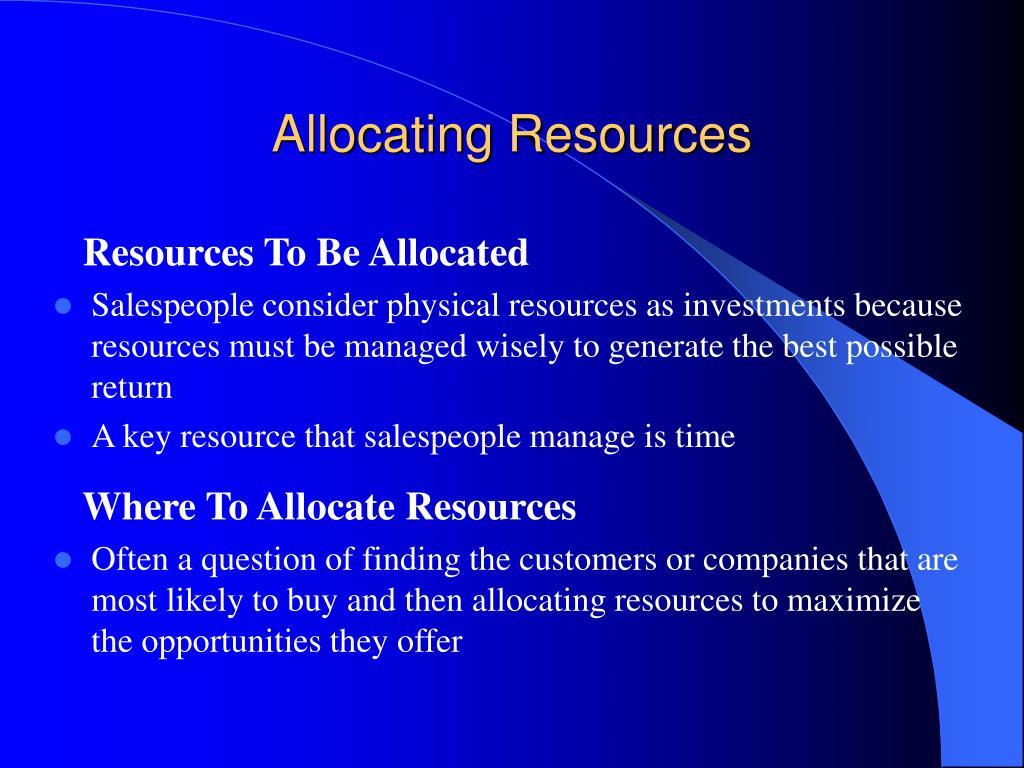 Allocating Resources