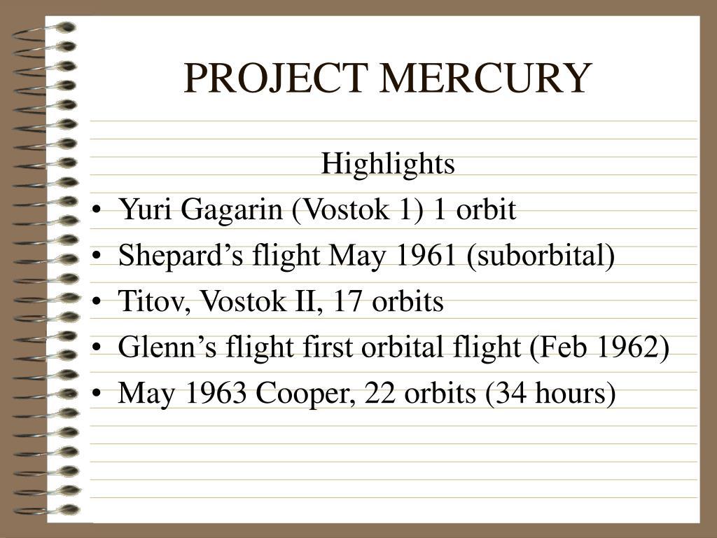 project mercury l.
