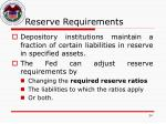 reserve requirements