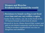 women and bicycles evidence from around the world2