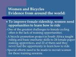 women and bicycles evidence from around the world4