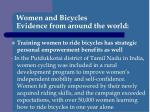 women and bicycles evidence from around the world5