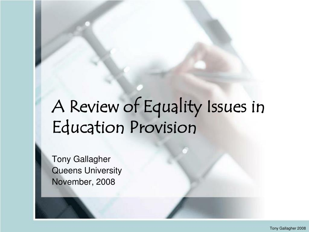 a review of equality issues in education provision l.