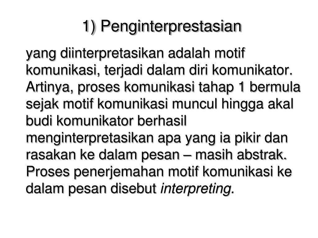 1) Penginterprestasian