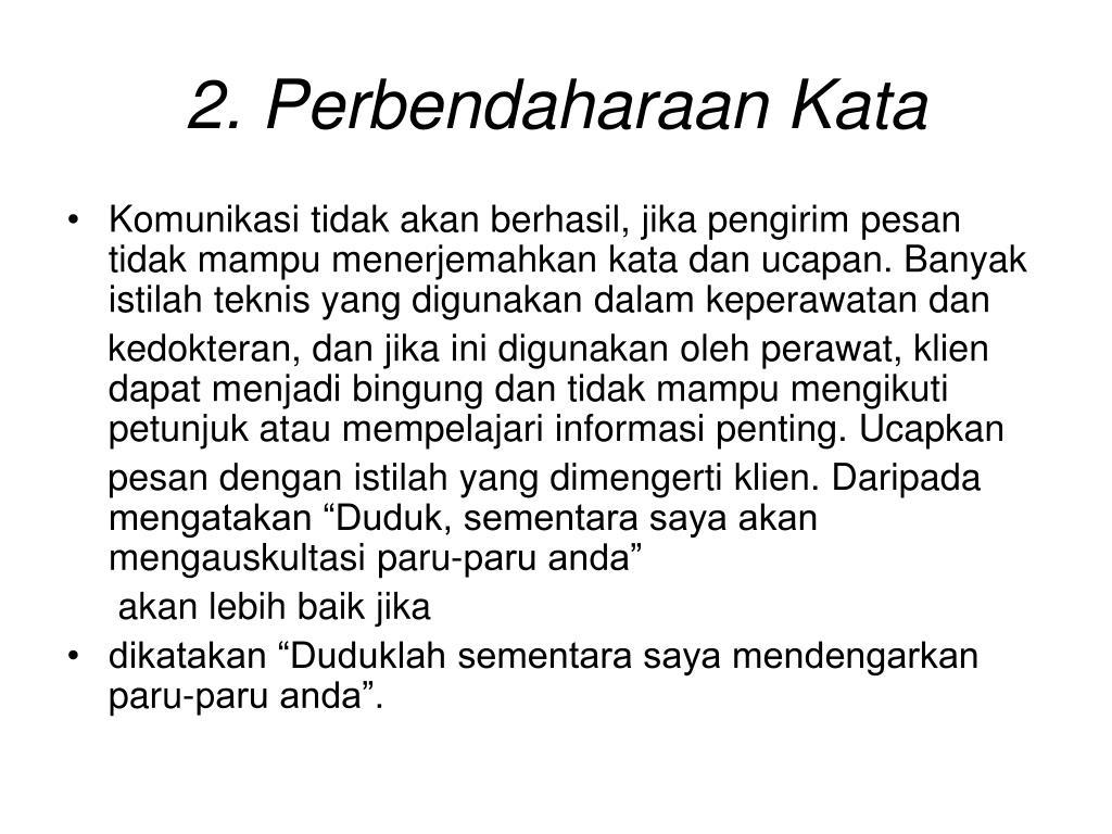 2. Perbendaharaan Kata