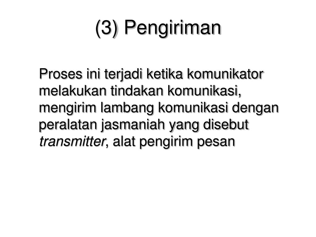 (3) Pengiriman