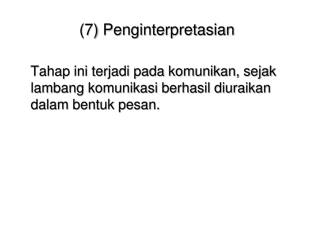 (7) Penginterpretasian
