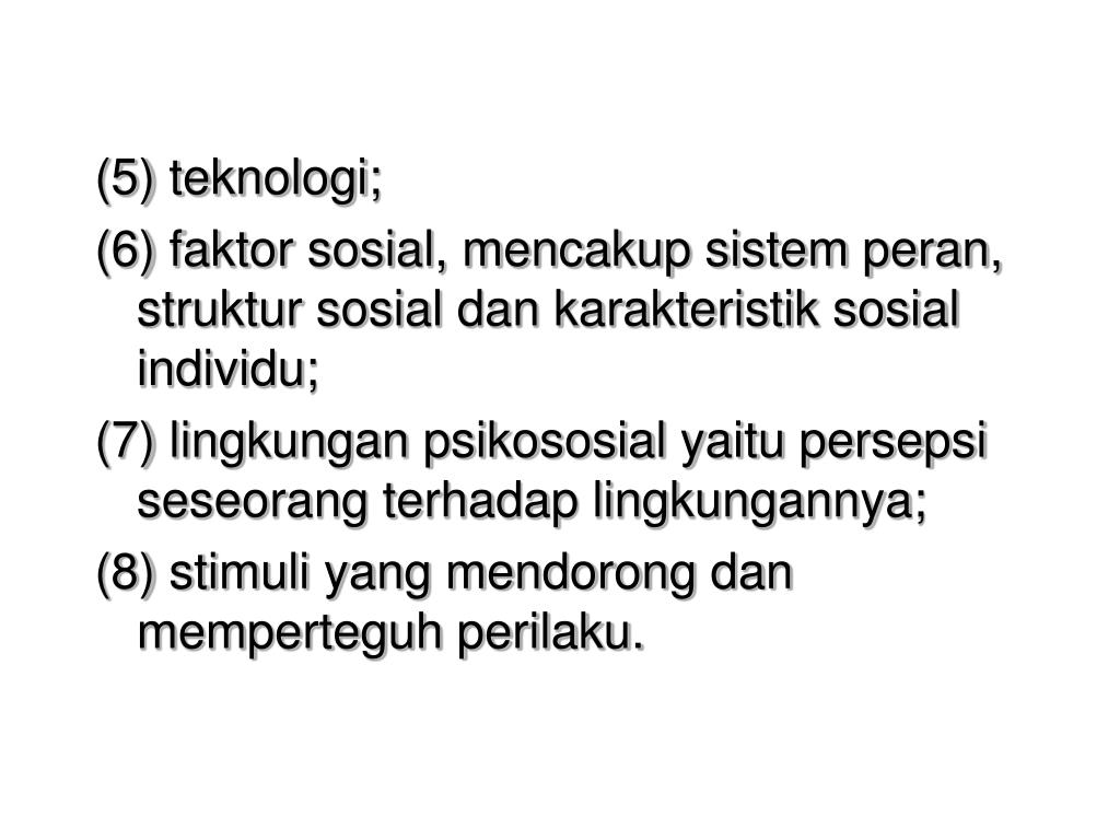 (5) teknologi;
