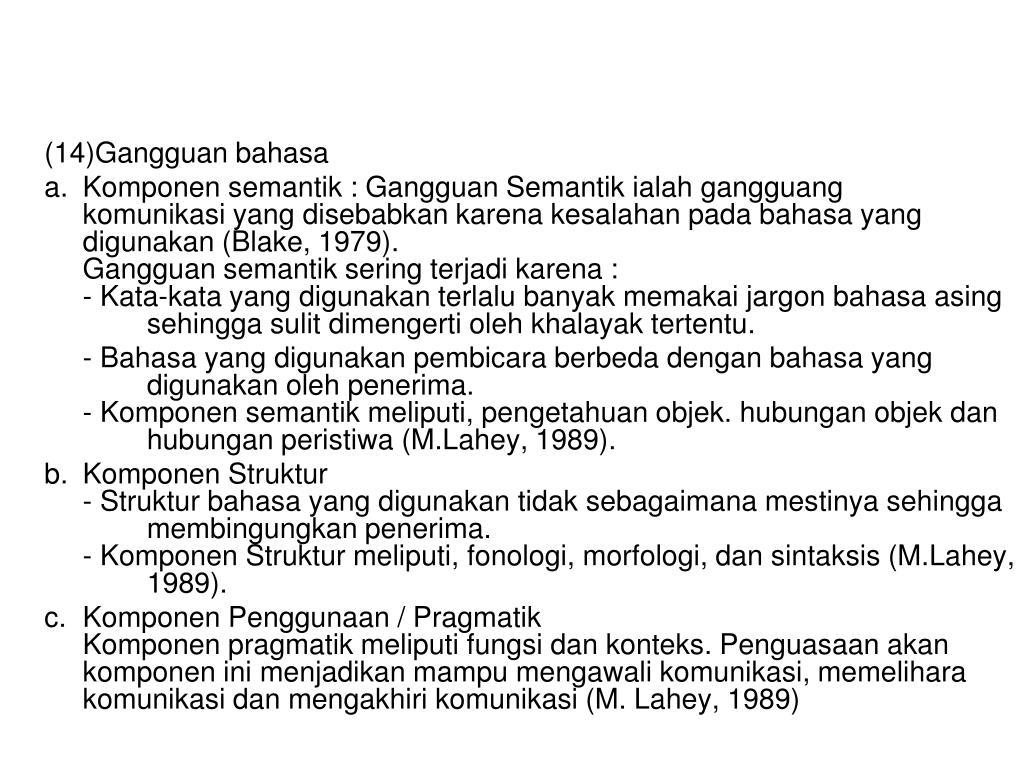 (14)Gangguan bahasa