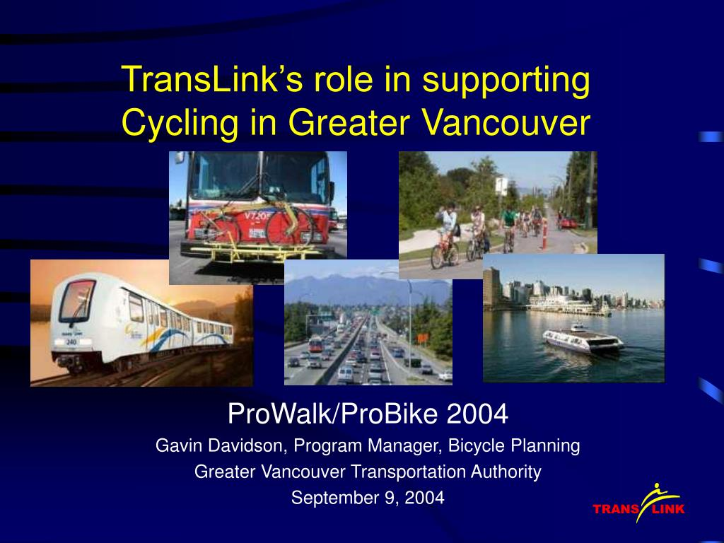 translink s role in supporting cycling in greater vancouver l.