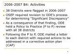 2006 2007 b4 activities