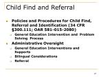 child find and referral