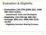 evaluation eligibility