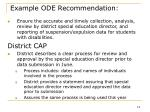 example ode recommendation