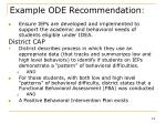 example ode recommendation14