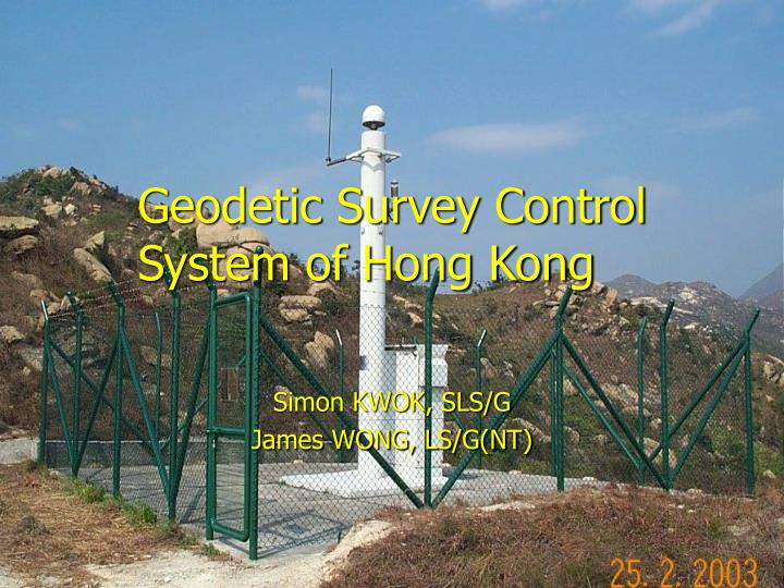 geodetic survey control system of hong kong n.