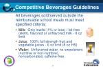 competitive beverages guidelines