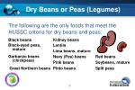 dry beans or peas legumes