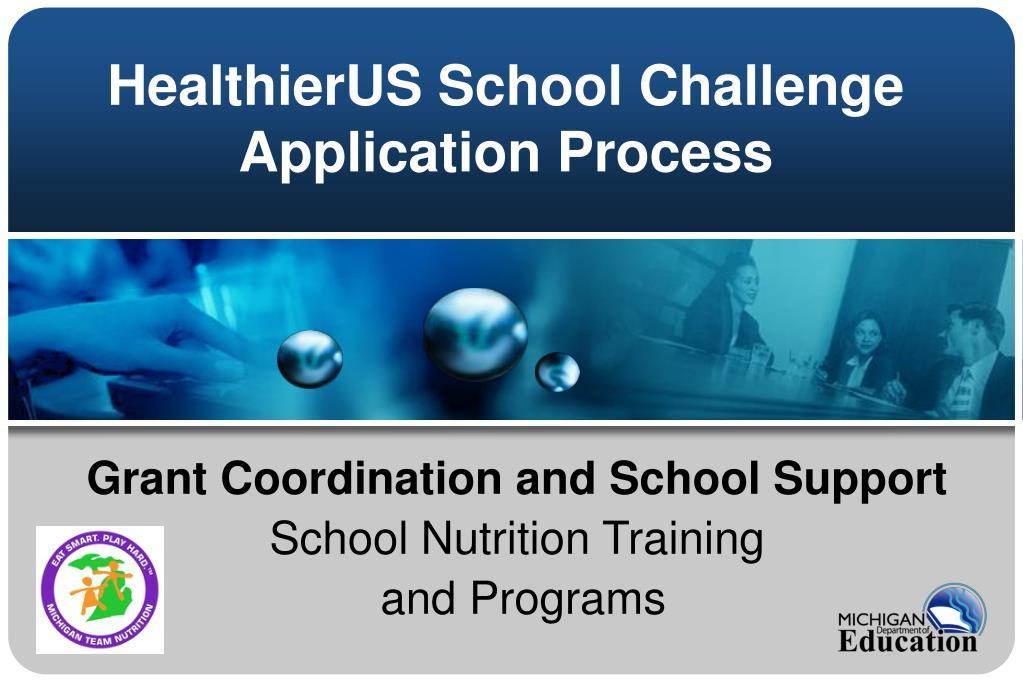 healthierus school challenge application process l.