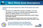 more whole grain descriptions
