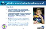 what is a good school meal program