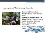 upcoming volunteer events