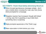 key points poster road safety advertising recall 2