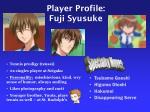 player profile fuji syusuke