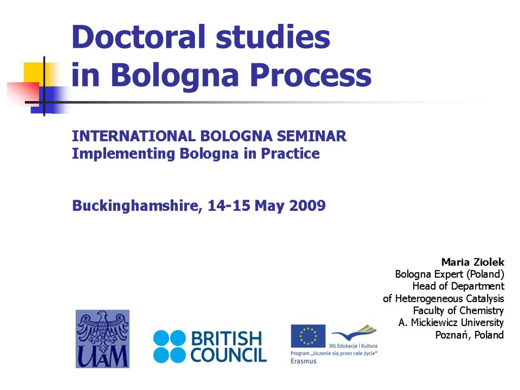 doctoral studies in bologna process l.