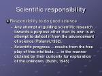 scientific responsibility