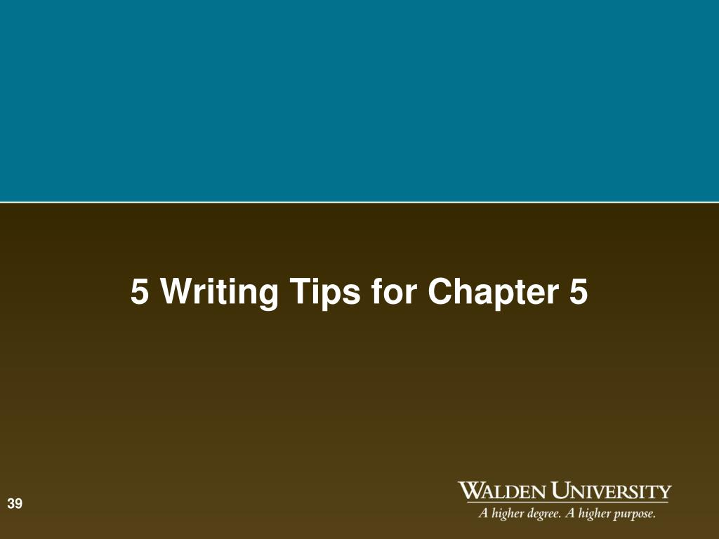 5 Writing Tips for Chapter 5