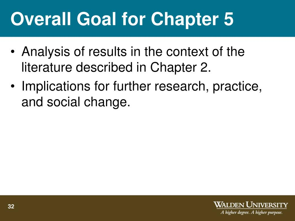 Overall Goal for Chapter 5
