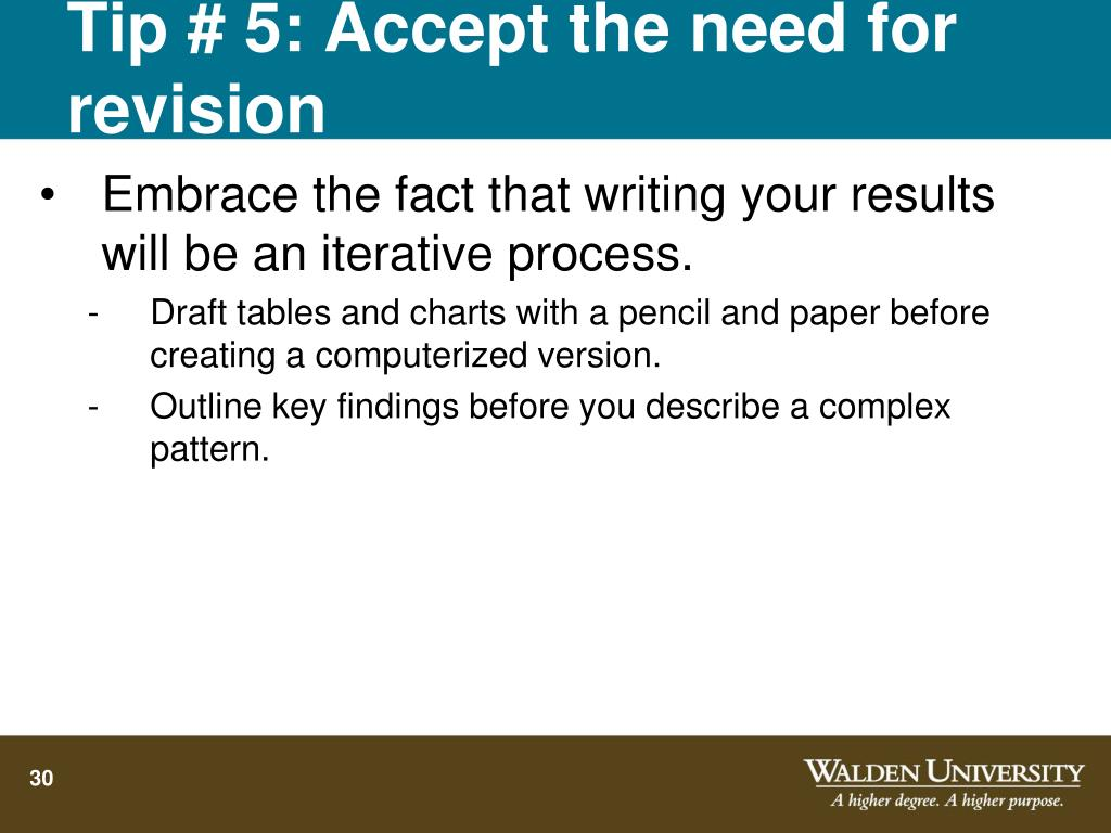 Tip # 5: Accept the need for revision