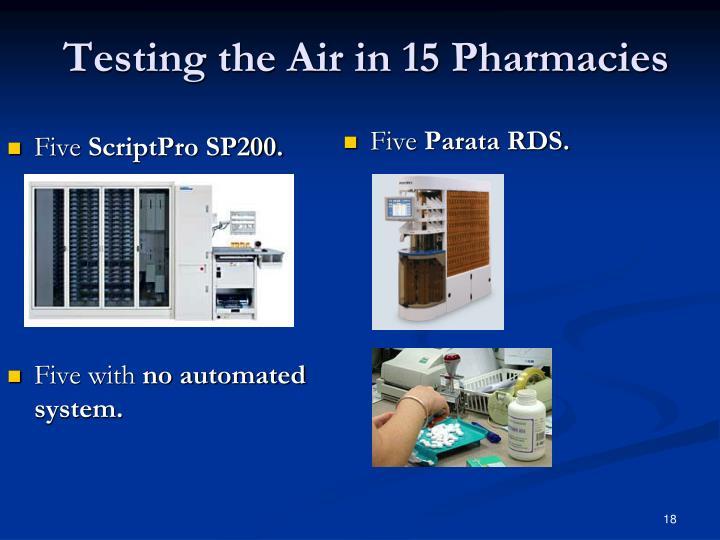 Testing the Air in 15 Pharmacies