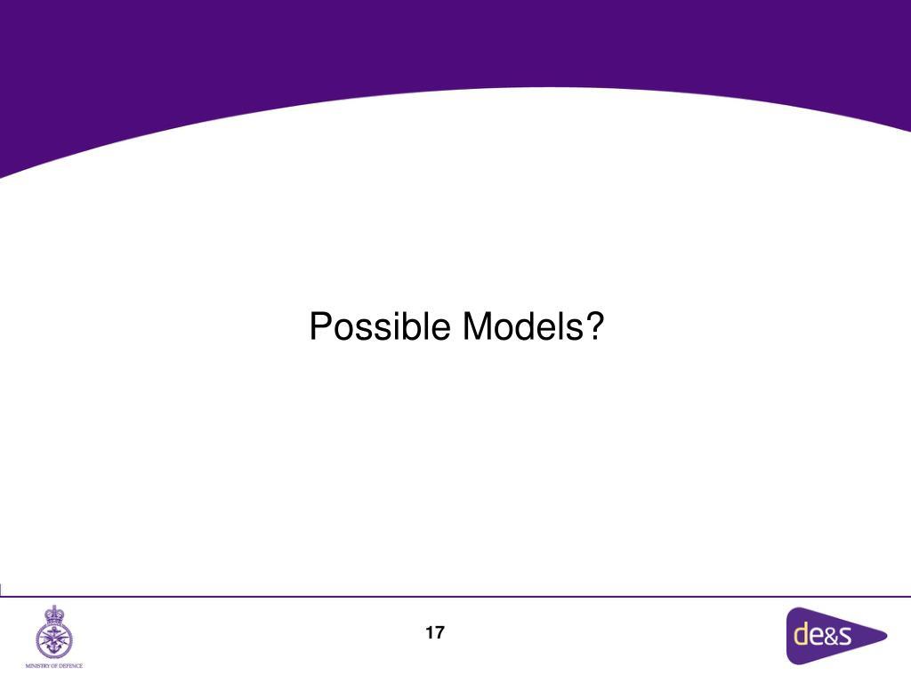 Possible Models?