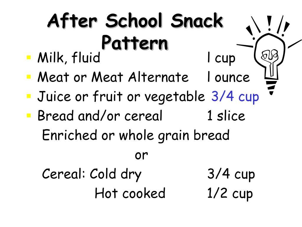 After School Snack Pattern